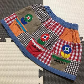 プチジャム(Petit jam)のプチジャム♡お花パッチワーク風スカート♡95(スカート)