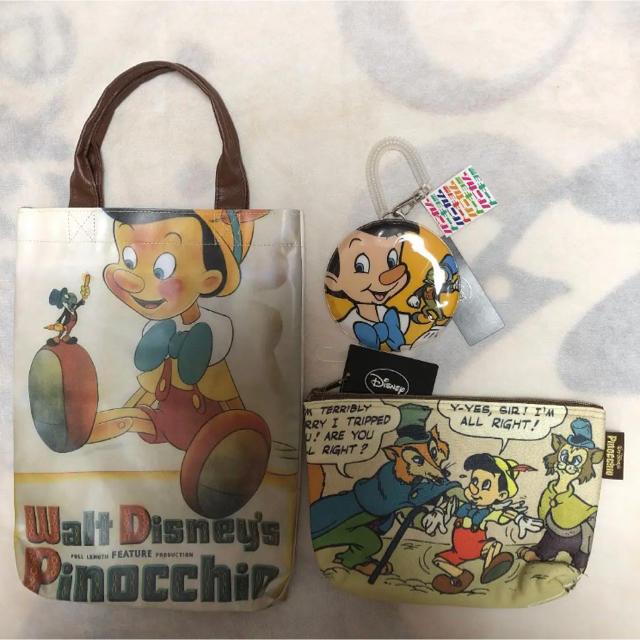 Disney(ディズニー)のお値下げ!ピノキオ3点セット エンタメ/ホビーのおもちゃ/ぬいぐるみ(キャラクターグッズ)の商品写真
