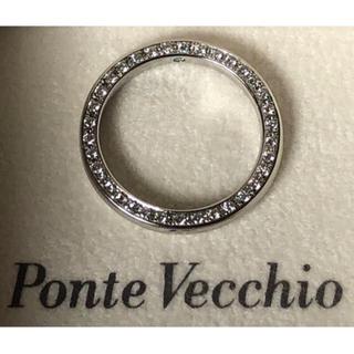 ポンテヴェキオ(PonteVecchio)の美品 ポンテヴェキオ ベルセグレート プラチナ 側面ダイヤモンドエタニティリング(リング(指輪))