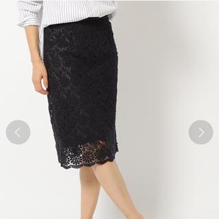 BABYLONE 花柄レース ひざ丈スカート