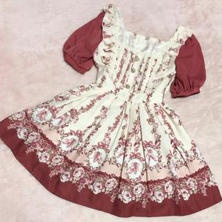 LIZ LISA - リズリサ薔薇柄トゥーシューズワンピース♡赤♡アクシーズaxesロディスポット
