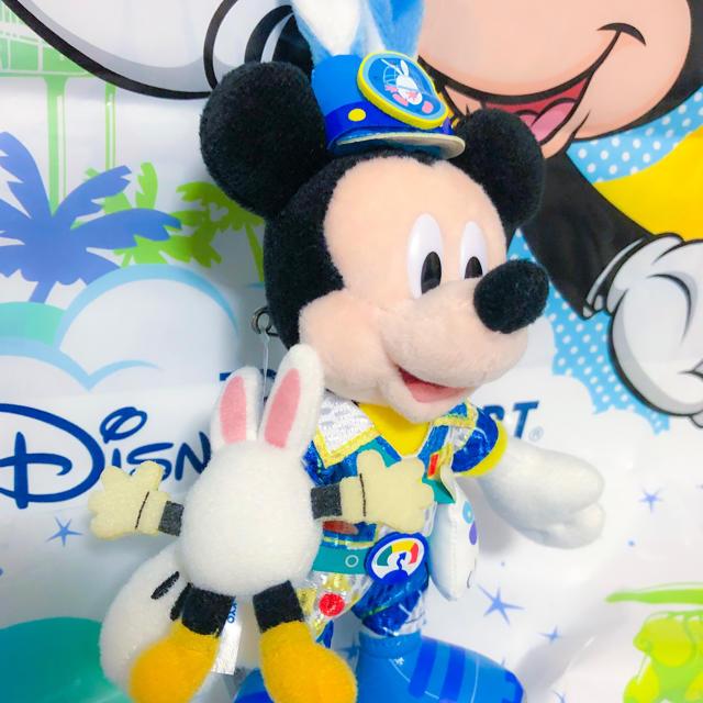 Disney(ディズニー)のうさたま ミッキー ぬいぐるみバッジ 2019 エンタメ/ホビーのおもちゃ/ぬいぐるみ(キャラクターグッズ)の商品写真