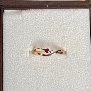 ブルーム(BLOOM)の【新品】K10ピンクゴールド ルビー・ダイヤモンド リング 10号(リング(指輪))