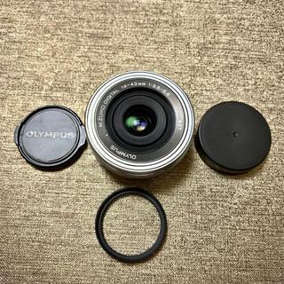 OLYMPUS - オリンパス 14-42㎜ EZ標準ズームレンズ  レンズプロテクター付き