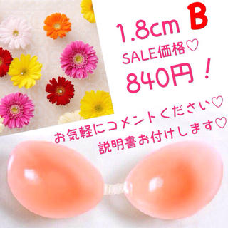 SALE♡1.8cm ヌーブラ Bカップ