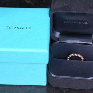 Tiffany & Co. - TIFFANY&Co. ティファニー 指輪 ラブ&キス 3P ダイヤ K18PG