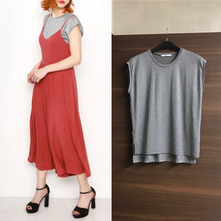 SLY - ◆SLY◆美品 CELLNOBLE キャップスリーブTOPS グレー