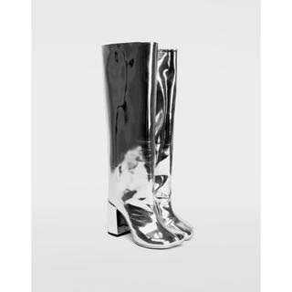 マルタンマルジェラ(Maison Martin Margiela)のMM6 スーパークール シルバー ブーツ(ブーツ)
