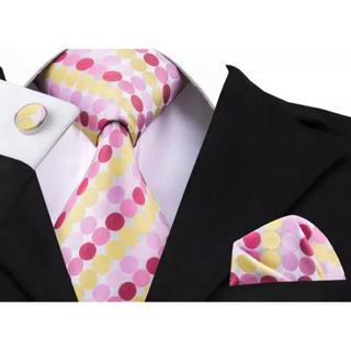 高級 ネクタイ ポケットチーフ カフス 3点セット B-14