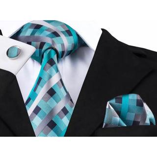 高級 ネクタイ ポケットチーフ カフス 3点セット B-15