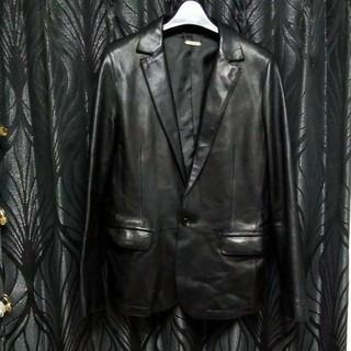 ロンハーマン(Ron Herman)のMONKYTIMEUNITEDARROWS本革羊革1ボタンレザージャケット黒M(レザージャケット)