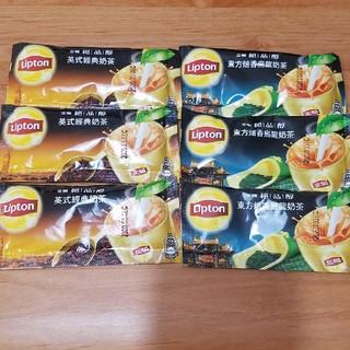 台湾 リプトンミルクティー×3 ウーロンミルクティー×3 合計6個セット(茶)