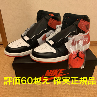 NIKE - US10 aj1 jordan1 track red  つま黒 シカゴ bred