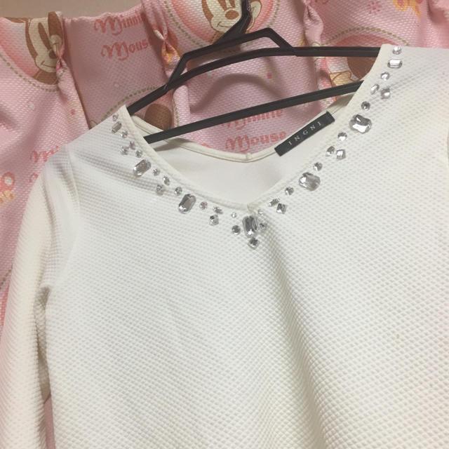 INGNI(イング)の白 トップス レディースのトップス(カットソー(長袖/七分))の商品写真