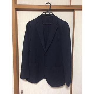 ユニクロ(UNIQLO)のユニクロ コンフォート ジャケット 紺色(テーラードジャケット)