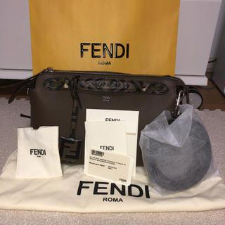 フェンディ(FENDI)のFENDI ブラウンレザーボストンバッグ(ボストンバッグ)