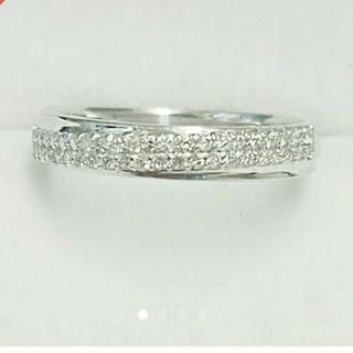 K18WG ダイヤモンドリング(リング(指輪))