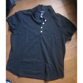 ギャップ(GAP)のGAP ストレッチ ポロシャツ L  黒(ポロシャツ)
