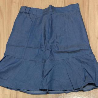 シマムラ(しまむら)のデニムスカート(ひざ丈スカート)