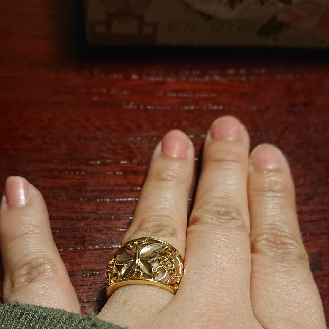 k18リング pgバタフライ レディースのアクセサリー(リング(指輪))の商品写真