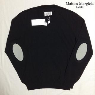 マルタンマルジェラ(Maison Martin Margiela)の新品■黒■M■マルジェラ■18ss■エルボーパッチニット■5686(ニット/セーター)