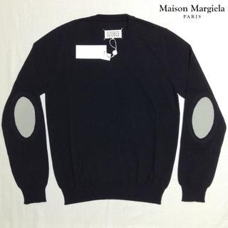 マルタンマルジェラ(Maison Martin Margiela)の新品■黒■L■マルジェラ■18ss■エルボーパッチニット■5687(ニット/セーター)