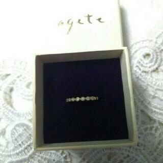 アガット(agete)のagete フリルピンキーリング 1号(リング(指輪))