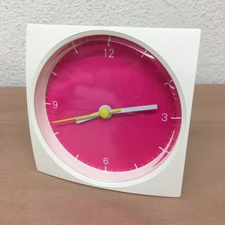フランフラン(Francfranc)の美品 Francfranc フランフラン 置き時計 動作確認済み ホワイトxピ(置時計)