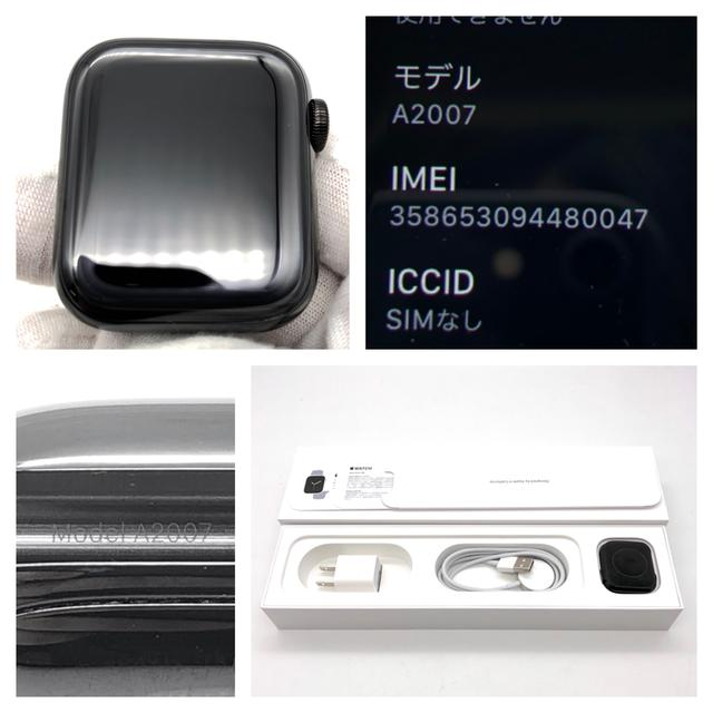 Apple(アップル)の アップル Apple A2007 Series 4 アップルウォッチ 腕時計 スマホ/家電/カメラのスマートフォン/携帯電話(スマートフォン本体)の商品写真