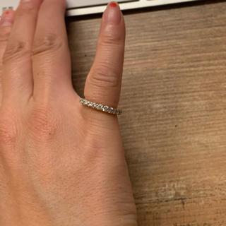 アガット(agete)の美品★本物ダイヤモンド0.5ct x k18イエローゴールドピンキーリング(リング(指輪))