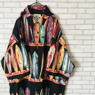 古着 アロハシャツ メンズ 半袖 シャツ ビンテージ トレンド 人気 サーフ