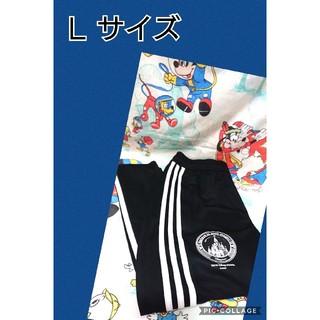 アディダス(adidas)のロングパンツ adidas ディズニーランド Lサイズ アディダス 黒 ブラック(ジャージ)