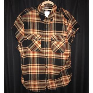 H&M - ノースリーブ チェックシャツ