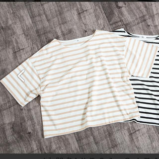 シマムラ(しまむら)のプチプラのあや さん しまむら コラボ  ボーダーユルT Tシャツ(Tシャツ(半袖/袖なし))