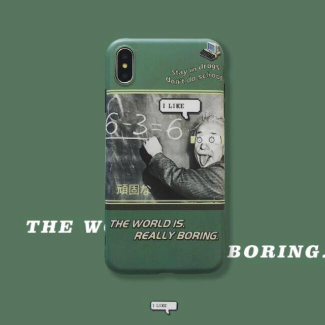 iPhoneケース アインシュタイン ユニークの通販 by くま's shop|ラクマ