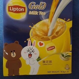 値下げ香港 リプトンミルクティー Line 限定品(茶)