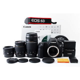 Canon - ★軽量フルサイズ!WiFi搭載★キャノン EOS 6D トリプルレンズ