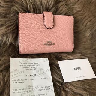 COACH - ★新品★コーチ COACH ベビーピンク♡二つ折り財布☆
