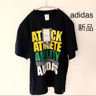 アディダス(adidas)の新品 アディダス Tシャツ ブラック 半袖 adidas(Tシャツ/カットソー(半袖/袖なし))
