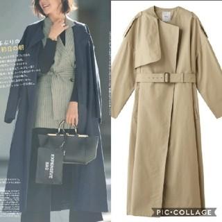 ドゥーズィエムクラス(DEUXIEME CLASSE)の美品♡ ebure ノーカラー トレンチ コート (トレンチコート)