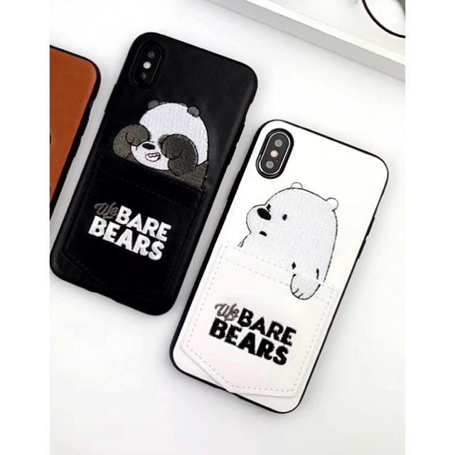iphone x ケース qoo10 、 iPhoneケース ぼくらベアベアーズ ホワイトの通販 by くま's shop|ラクマ