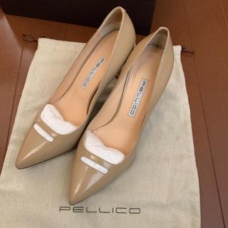 ペリーコ(PELLICO)のPELLICO ペリーコ パテント アネッリ パンプス 36.5(ハイヒール/パンプス)