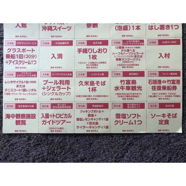 JAL(日本航空)(ジャル(ニホンコウクウ))のJALパック めんそーれクーポン チケットの優待券/割引券(その他)の商品写真