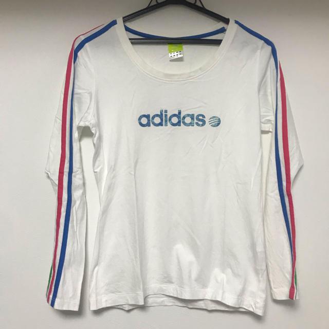 adidas(アディダス)のadidas❤︎アディダス❤︎長袖Tシャツ❤︎美品❤︎かわいい❤︎ レディースのトップス(Tシャツ(長袖/七分))の商品写真