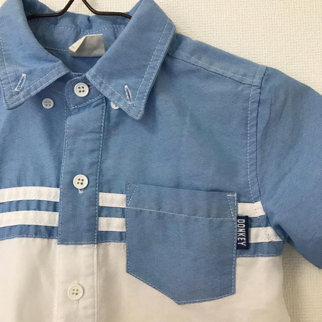 Donkey Jossy(ドンキージョシー)の最終価格!ドンキージョシー シャツ120 キッズ/ベビー/マタニティのキッズ服 男の子用(90cm~)(Tシャツ/カットソー)の商品写真