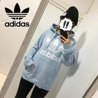 アディダス(adidas)の【adidas】ビックトレフォイルプリント プルオーバーパーカー(パーカー)