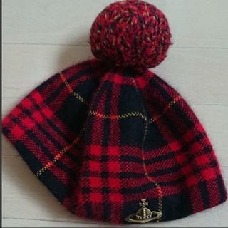 ヴィヴィアンウエストウッド(Vivienne Westwood)のvivienneボンボンベレー帽(ハンチング/ベレー帽)