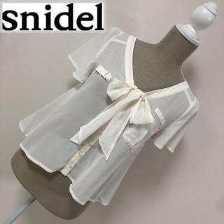 snidel - スナイデル ボウタイブラウス 白