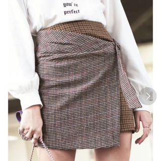 エヴリス(EVRIS)のEVRIS MIXチェックラップスカート(ミニスカート)