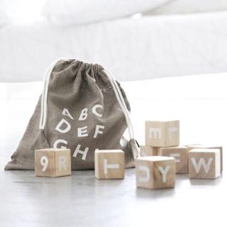 oohnoo アルファベットブロック ホワイト
